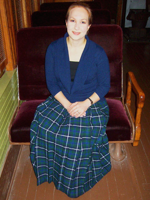 Hostess Kilted Skirt, model Cpt. Dr Smith, MD DTJ | Douglas Tartan Kilt