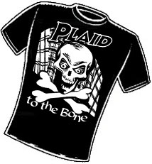 Plaid to the Bone. T-Shirt Design