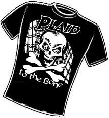 Plaid to the Bone. T-Shirt Design
