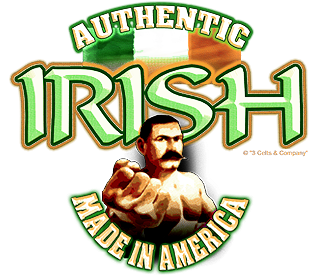 Authentic Irish T-Shirt on Sand Small