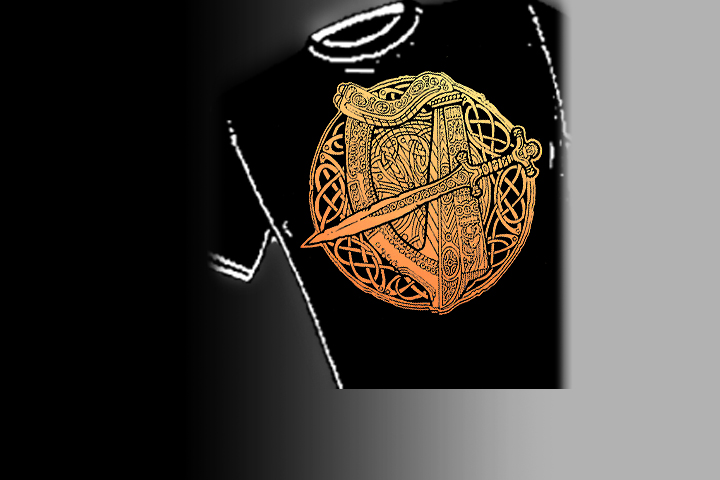 Fairie Harp. Select colors and styles available in your choice of Celtic T-shirts | Celtic Hoodies | Celtic Crew Necks.