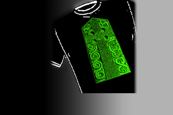 Pictish High Cross. Select colors and styles available in your choice of Celtic T-shirts | Celtic Hoodies | Celtic Crew Necks.