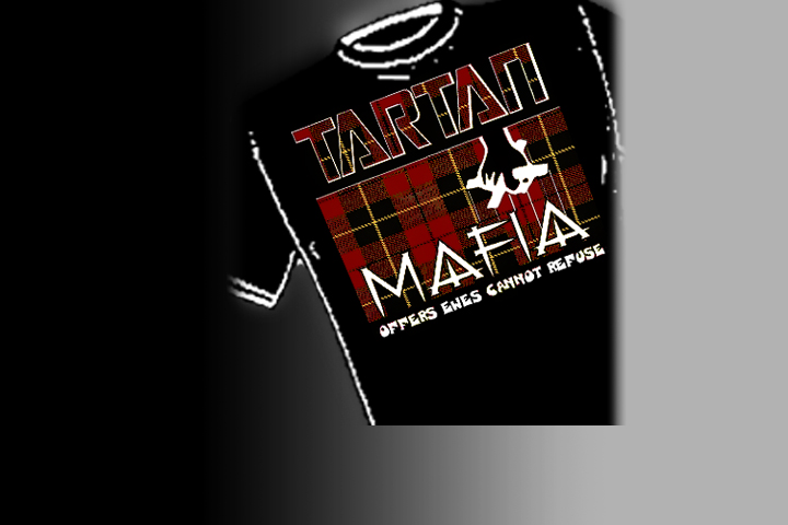 Tartan Mafia. Select colors and styles available in your choice of Celtic T-shirts | Celtic Hoodies | Celtic Crew Necks.
