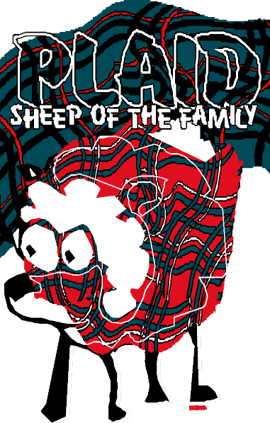 Plaid Sheep of the Family Crewneck on Ash XXL
